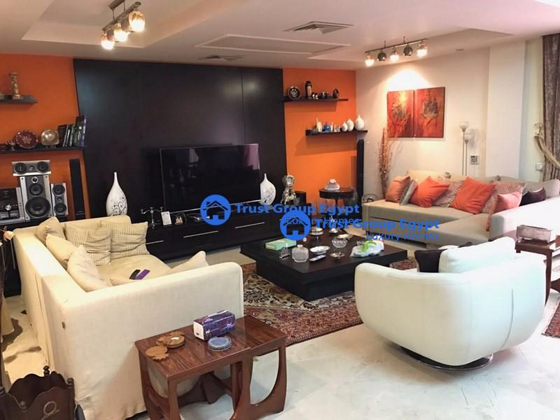ground floor extremely modern fully furnished for rent in katameya highets