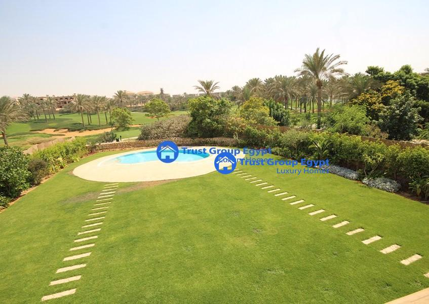 Very private and secure villa for rent in katameya dunes
