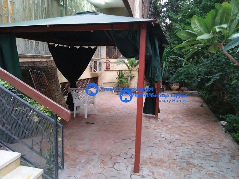 ground floor with large garden for rent in maadi saryaat