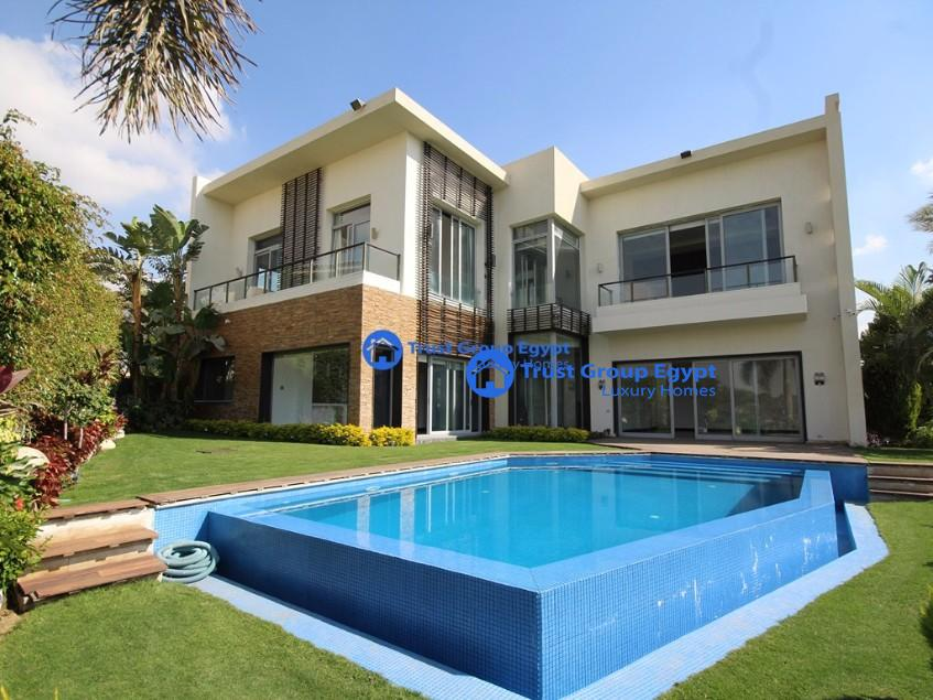 Large Villa With Golf View for rent In Katameya Heights