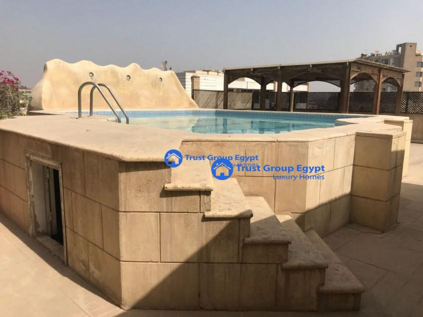 duplex pent house with swimming pool for rent maadi saryaat