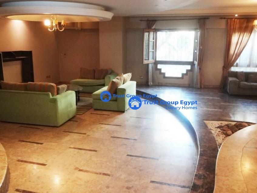ground floor with private swimming pool for rent i in maadi saryaat